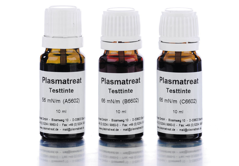 The Plasmatreat online shop for test inks: 